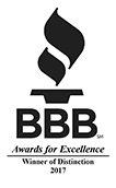 BBB Award Winner of Distinction 2012, 2015, 2016, 2017