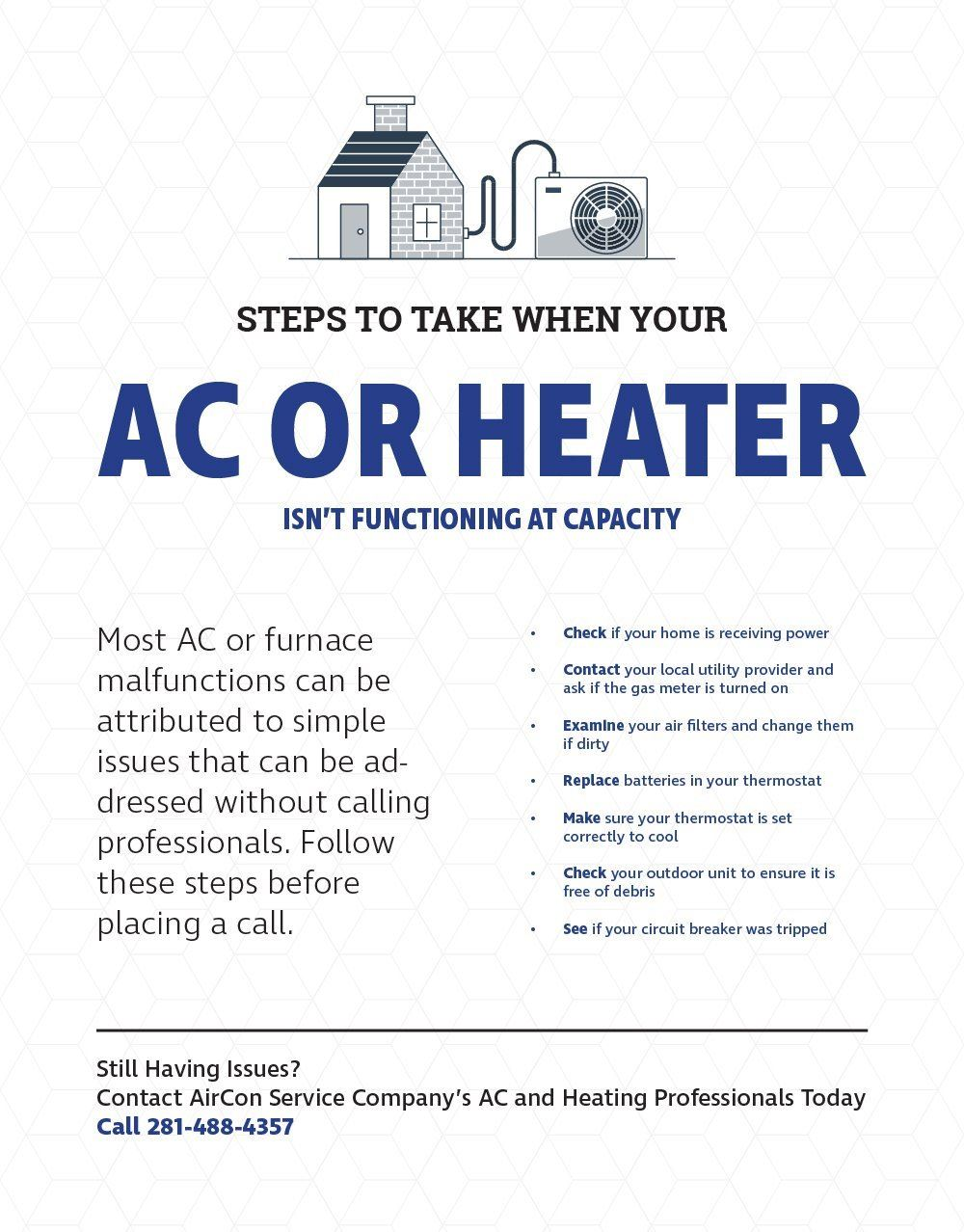Steps To Take When Your Ac Or Heater Isnt Functioning At Capacity Circuit For Central Heating How Make A Simple Thermostat